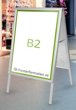 B2 formaat afmeting